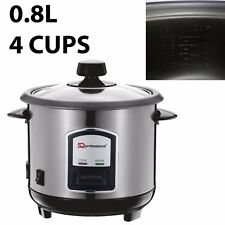 4 CUPS 0.8L LITRE NON STICK AUTOMATIC ELECTRIC RICE COOKER POT WARMER WARM 350W