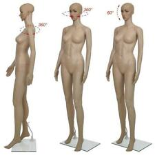 5.7FT Female Mannequin Plastic Realistic Display Head Turn Full Body Form w/Base