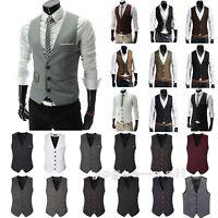 Men Formal Suit Dress Vest Slim Business Wedding Tuxedo Waistcoat Jacke Coat Top