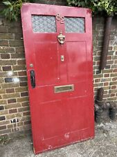 More details for rare cottage reclaimed old edwardian victorian timber wooden front door