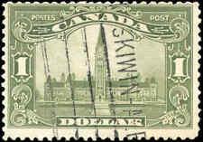 1929 Used Canada $1.00 F Scott #159 King George V Scroll Stamp