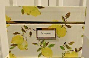 "Kate Spade New York Lemon Small Size 10.5""x8.5""x5.5"" Storage Box Brand New Tags"