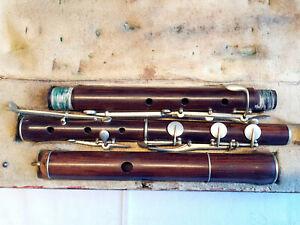 Wunderschöne französische Querflöte Flute Traversiere Gautrot á Paris Vintage!