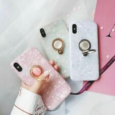 Crystal Marble Diamond Ring Holder Phone Case Cover For iPhone XR Xs Max 8 7 6+