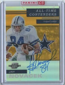 Jay Novacek 2019 Panini contenders optic all time contenders gold prizm auto /50
