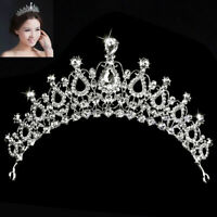 Wedding Bridal Womens Pageant Prom Girls Child Birthday Headband Tiara Crow K9B8