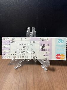 HANSON Concert Ticket Unused Vintage September 27 1998 Woodlands Pavilion