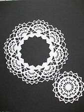 New: 4 Large & 4 Small Cheery Lynn Doily Die Cuts.