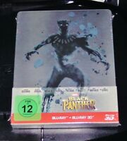 Nero Panther 3D blu ray+ blu ray Limitata steelbook Edition Nuovo & Originale
