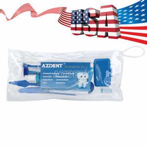 Dental Orthodontic Tooth Brush Interdental Brush Floss Mirror Travel Kits