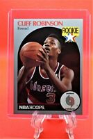 Cliff Robinson NBA Hoops 1990 Basketball ROOKIE Card #250