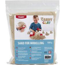 Sandy Clay ®, natural, 1 Kg-Arena Reutilizable Para Arcilla para modelar, Niños Niños