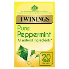 Twinings Pure Peppermint 20 teabags 40g (FULL BOX of 4) ***FREE UK DELIVERY***