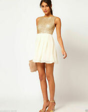 TFNC Babydoll Dress with Sequin Bodice SIZE S