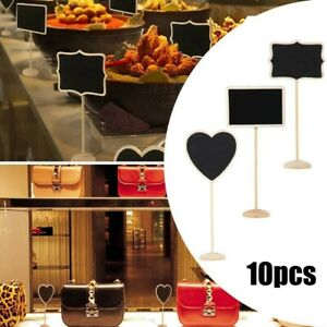 10PCS Mini Wooden Blackboard With Stands Chalkboard Signs For Message Food Sign