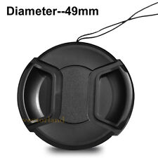 49mm Snap-On lens Cap Cover for Sony Canon Nikon Fuji Pentax Alpha UK