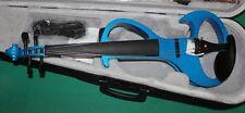 VIOLINO ELETTRICO VLE-6 BLEU METAL 4/4 NEW ORLEANS CUSTODIA  ARCHETTO ACCESSORI