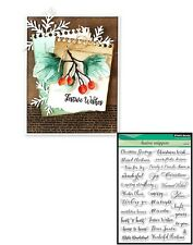 Penny Black Inc 30-387 FESTIVE SNIPPETS Clear Stamp Set Christmas Holidays
