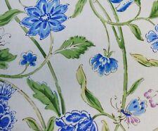 Brunschwig & Fils INDIAN SUMMER AMETHYST SAPPHIRE Blue Drapery Sewing Fabric BTY