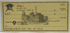 Walters Brewery Check Unused Eau Claire Wisconsin 1960'S