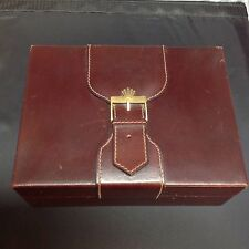 Vintage ROLEX Box Only. Red Leather and Wood for Presidential.