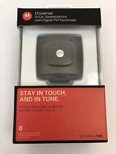 NEW Motorola T505 Bluetooth  In-Car Speaker Phone with Digital FM Transmitter