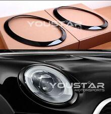Us Stock x2 Gloss Piano Black Line Headlight Trims for Mini Cooper S F55 F56 F57