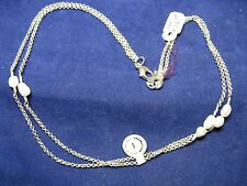 "REO Signed 30"" Chain  Silver with Baroque Pearls"