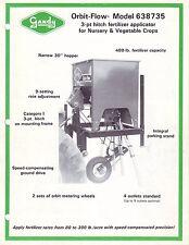 NOS Gandy 3pt. Orbit Flow 638735 fertilizer applicator