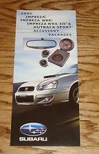 2005 Subaru Impreza WRX STI Outback Sport Accessory Packages Sales Brochure 05