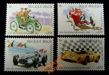 Lot 4 timbres Belgique sport autos 1 SPA francorchamps 1996 voitures de courses