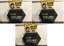 3 x GATSBY CLAY styling clay twist & spikes 50g