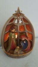 Ceramic traditional Nativity Tealight Holder -xmas christmas light
