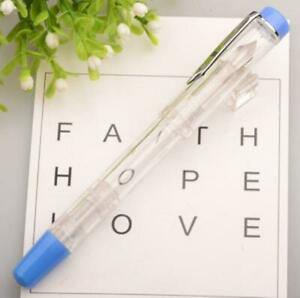 8colors Transparent Piston Pens Ink Fountain Pen School Office Stationery