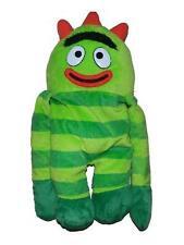 """Yo Gabba Gabba Plush Brobee Backpack 19"""" Nick Jr Green Monster Soft"""