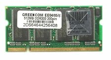 512MB DDR333/400 200PIN PC3200 CL3 200Pin Unbuffered-DIMM Non ECC 2DS6464