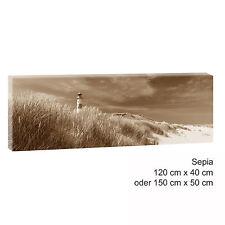 140x90 Meer Sonnenuntergang Sand Strand Sonne Abend Rahmen Leinwand Sinus Art