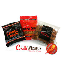Chilli Snack Collection. Very Hot Chilli Mixed Snacks. Made with Carolina Reaper