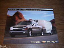 MINT CHEVY SILVERADO 2001 2002 1500HD CREW CAB 8-1/2 X 11  1 PAGE 2 SIDED (250)