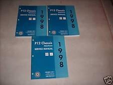 1998 Chevrolet GMC P12 P 12 Motor Home Service Shop Repair Manual FACTORY
