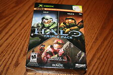 Halo Triple Pack Xbox, 2005 Halo Halo 2 Halo 2 Multiplayer Map Pack Bundle New