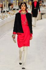 CHANEL 12A Fall 2012 Runway Pink Silk Faux Wrap Draped Skirt 38 FR $2245