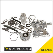 Timing Chain Kit Cover w/ Steel Rail Oil Water Pump Fit Toyota 2.4 22RE PICKUP