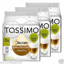 Tassimo Jacobs Latte Macchiato Coffee 3 Pack 48 T Disc 24 Servings