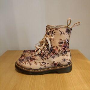 Dr Martens 1460 Castel Victorian Flowers Floral Black Boots UK 5 - Used Once
