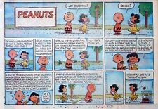 Peanuts by Charles Schulz - large half-page Sunday color comic - August 18, 1963