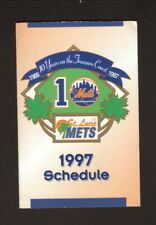 St Lucie Mets--1997 Pocket Schedule--with Mets Spring Training--Harbor Federal