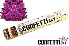 "12""  CONFETTI SKY purple Mylar cannon 2018 wedding party popper favor 72 PC CASE"