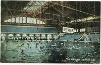 The Plunge Bath House Pool Swim Venice California Inside View Vintage Postcard