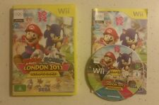 WII GAME MARIO & SONIC AT THE LONDON 2012 OLYMPIC GAMES - Complete - Free Post!